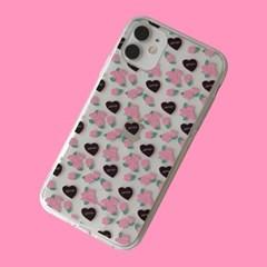 [뮤즈무드] heart rose (clear) 아이폰케이스