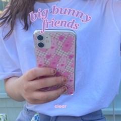 [뮤즈무드] big bunny friends (clear) 아이폰케이스