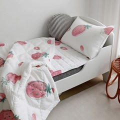 [바이아미] 딸기 리플 여름침구세트 - 싱글사이즈