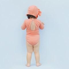 [메르베] 멜로우 스윔슈트 코랄핑크 신생아 아기 수영복_(1479718)