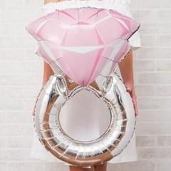 핑크 다이아몬드 링풍선 1ea