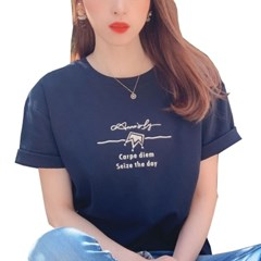 안나슬리 커플 수피마 코튼 반팔 티셔츠 2colors