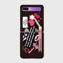 lovely rose sticker Z플립 하드케이스_(938684)