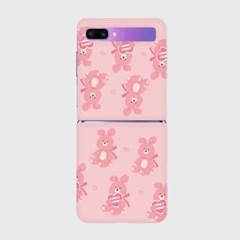 lovely bunny 패턴 Z플립 하드케이스_(938683)
