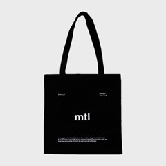 mtl logo ecobag (black/white)