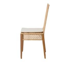 EM_C_0135 인테리어 디자인 티크원목 천연라탄 의자