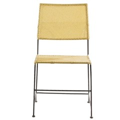 EM_C_0146 인테리어 디자인 철제 라탄 의자