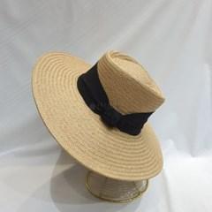 검은띠 여행 여름 패션 데일리 챙넓은 라피아햇 모자