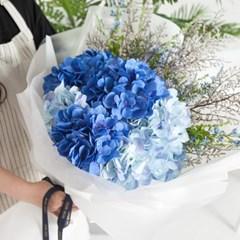 드라빌수국꽃다발 85cmP 조화 꽃다발 선물 FMBBFT_(1834429)