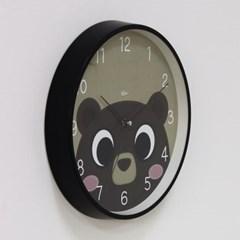 (kdrz148)저소음 스틸 곰돌이시계 300 블랙_(907452)