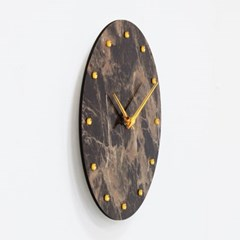 (khyn006)저소음 대리석디자인 시계 도트 (브라운)_(907442)