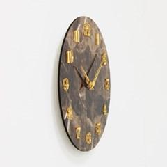 (khyn007)저소음 대리석디자인 시계 숫자 (브라운)_(907441)