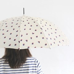 Because useful bird 수동장우산 - white