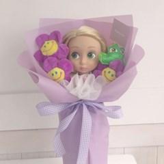 라푼젤 베이비돌 인형 꽃다발