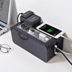 심플인테리어 케이블 전선정리 투명커버 멀티탭박스 M_(1224078)
