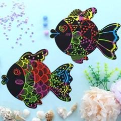 물고기 스크래치 페이퍼 10p_(1316339)