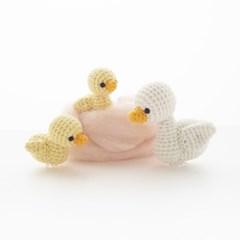 (손뜨개 DIY 키트) 코바늘 엄마와 아기 오리 인형