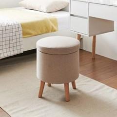 가구데코 로시 화장대 패브릭 수납 스툴 의자 NA0224