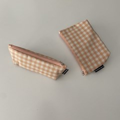 다크 오렌지 삼각 필통(Dark orange triangle pencil case)