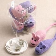 뉴질랜드산 100%양모 장난감 왕왕쥐돌이