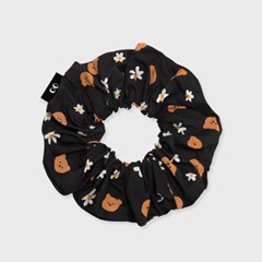 Dot flower bear-black(곱창머리끈)_(1622669)