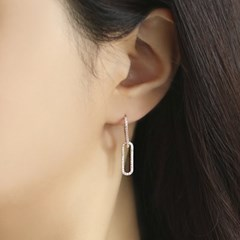 OST 로즈골드 큐빅 클립 귀걸이 OTE120402QPW