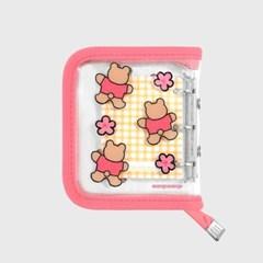 Blossom bear heart-pink(3hole diary)_(1622698)