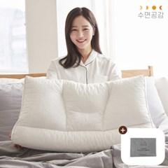 [수면공감] 우유베개 라텍스 경추 베개+폴리 전용커버
