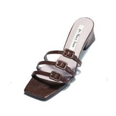 Mini buckle mule-brown
