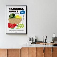여름 과일 주스 M 유니크 인테리어 디자인 포스터 카페 에이드