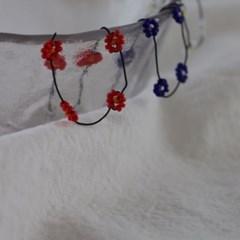 명품 패션 매듭팔찌재료 비즈 꽃무늬 실팔찌