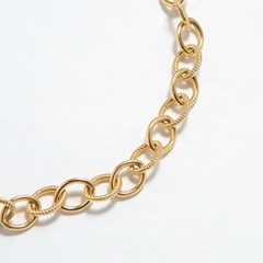 Twist Oval Chain Bracelet 6mm (14K 골드필드)