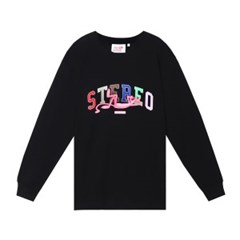 [FW19 Pink Panther] Stereo Logo Long Sleeve(Black)_(785963)
