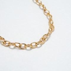 Smooth Oval Chain Bracelet 5mm (14K 골드필드)