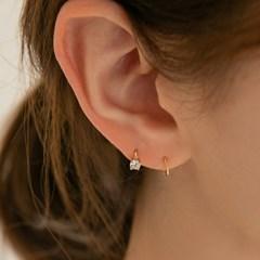 14k mini CZ onetouch piercing earring (14K 골드)