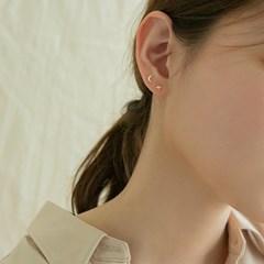 14k gold cutting star earrings (14K 골드)