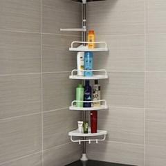 조립식 무타공 5단 기둥 화장실 욕실 코너선반