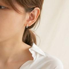 14k gold curve 4 layered pearl earrings (14K 골드)