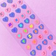 반짝반짝 Heart Alphabet Aurora 칼선 스티커