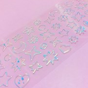 투명금테 투명도 100% Deco-Twinkle 오로라 칼선 스티커