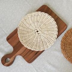 라탄 공예 - 라탄 채반 트레이 만들기