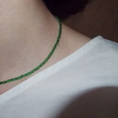 green_jolly_neck 초록 비즈목걸이
