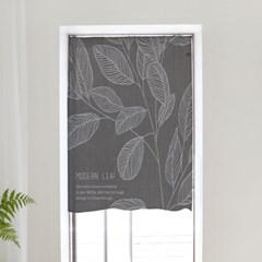 속커튼 도어커튼 현관 창문 바란스 115x120 모던리프_(1479087)