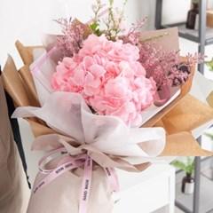 피오리타수국꽃다발 65cmP 조화 꽃다발 선물 FMBBFT_(1841566)