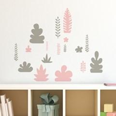 나뭇잎패턴 귀여운그림 스티커