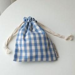 check string pouch #빈티지블루
