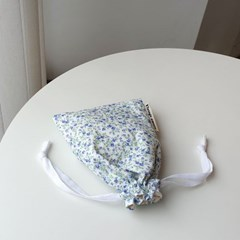 vintage flower string pouch #02