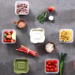 한끼밥 냉동밥 전자렌지용기 400ml 10개(그린)