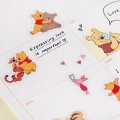 [디즈니] 곰돌이 푸 투명 스티커