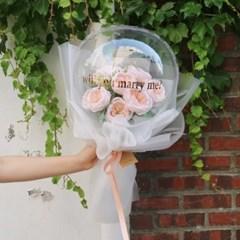 꽃풍선 레터링 풍선 꽃다발 커스텀 생일 글자 버블 플라워